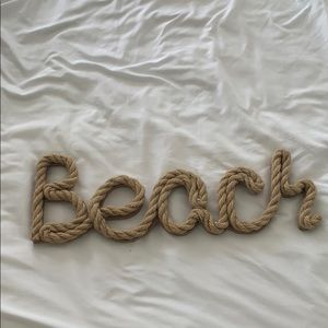 Beach sign room decoration